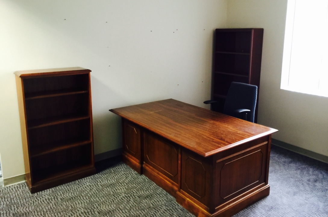 Ace Office Furniture Houston solid wood desk matching bookshelves